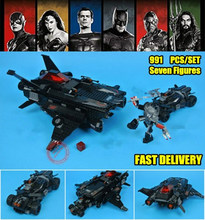 New Flying Fox Batmobile Airlift Attack Fit Legoings Batman Technic Figures Superman Building Block Bricks Toy Kid Xmas