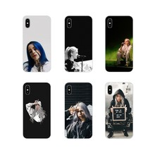 For Xiaomi Mi4 Mi5 Mi5S Mi6 Mi A1 A2 5X 6X 8 9 Lite SE Pro Mi Max Mix 2 3 2S Music Singer Billie Eilish Silicone Phone Cover Bag(China)