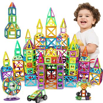 DIY bloki magnetyczne duże rozmiary magnesy projektant zestawy budowlane modele i zabawki budowlane zabawki edukacyjne dla dzieci dla dzieci prezenty tanie i dobre opinie KACUU Z tworzywa sztucznego BIG SIZE Magnetic Blocks as the picture 10-12Y 4-6Y 7-9Y 13-14Y 2-3Y 14Y DIY 3D Magnetic toys