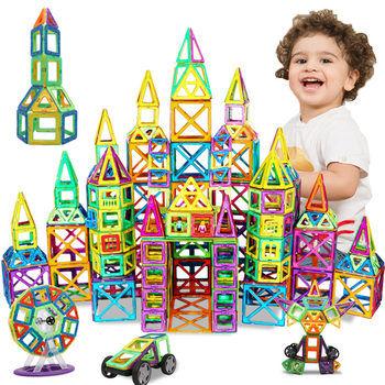 DIY bloki magnetyczne duże rozmiary magnesy projektant zestawy budowlane modele i zabawki budowlane zabawki edukacyjne dla dzieci dla dzieci prezenty tanie i dobre opinie KACUU Z tworzywa sztucznego BIG SIZE Magnetic Blocks as the picture 4-6Y 14Y 2-3Y 7-9Y 10-12Y 13-14Y Magnetic Assembling Blocks Puzzle Blocks