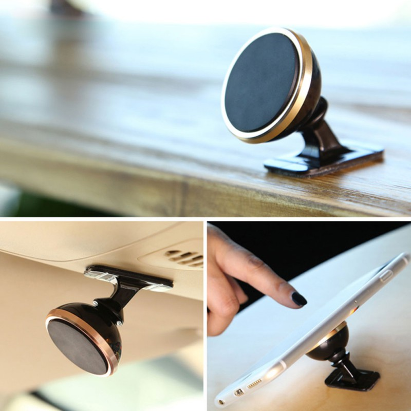 Magnetic Phone Car Mount 360 degree Rotate Cell Holder For Dashboard Magnet