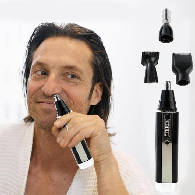4 in 1 Nose Hair Trimmer Epilator Rechargeable Eyebrow Beard Shaver Razor Kit Face Care Tools 4