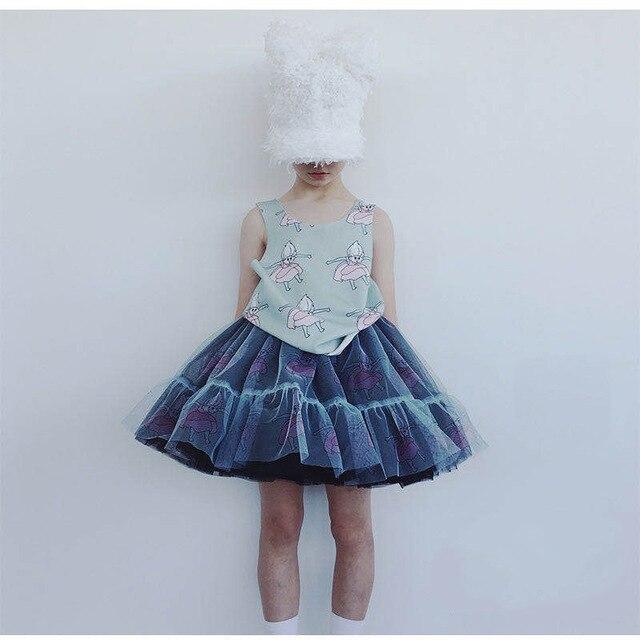 Girls Clothing Sets 2020 Summer Caroline Baby Flower T-shirt Cartoon Tutu Skirts Caps Girl Dress Party Suits Children Clothes 2