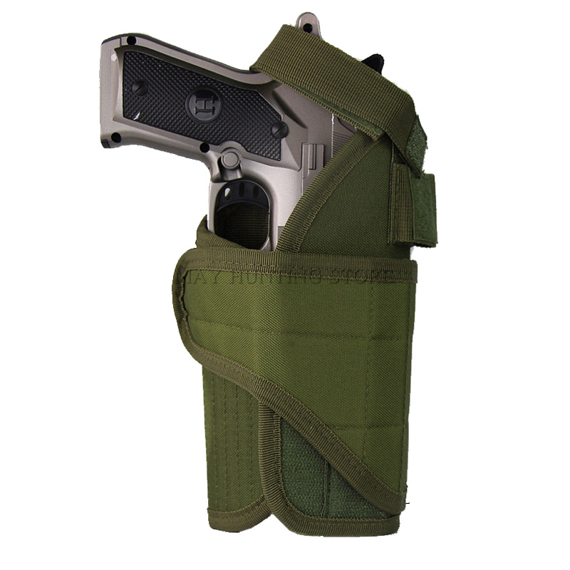 Tactical Nylon <font><b>Molle</b></font> Belt Gun <font><b>Holster</b></font> For Glock 17 M9 USP <font><b>1911</b></font> Military Airsoft Light Mount Hunting Shooting Universal <font><b>Holsters</b></font> image
