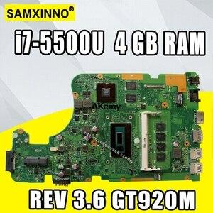 X555LD REV 3.6 X555LJ Mianboard For Asus X555L X555LB F555L W519L laptop motherboard i7-5500U 4GB RAM GT920M/2GB