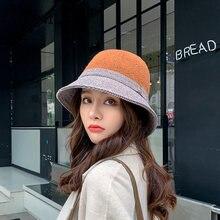 Женская осенне зимняя шапка в рыбацком стиле корейская мода