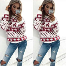 New Fashion Women Lady Jumper Sweater Pullover Tops Coat Christmas Winter(China)