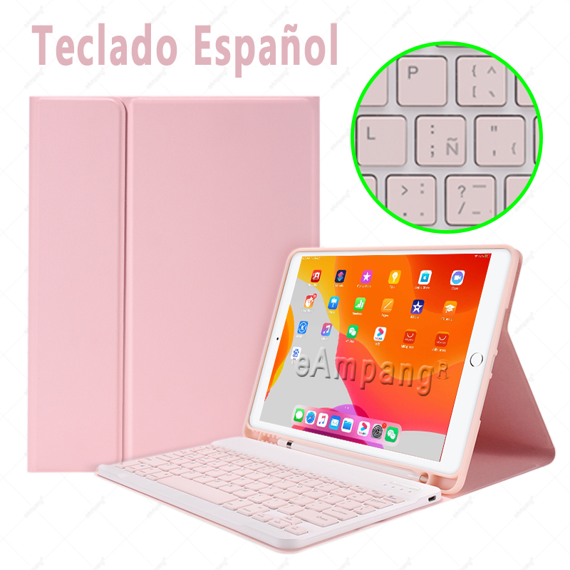 Spanish no Mouse Clear Keyboard Case With Wireless Mouse For iPad Air 4 10 9 2020 4th Generation A2324 A2072