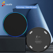 Swalle USB Phone Charger Pad fast charger wireless charger for smartphone wireless charger quick charger Portable charger cheap Silicon Desktop Pad With Cable With LED Light Used With Phone Micro Usb Plastic