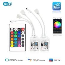 Magic Home DC5V 12V 24V RGB Tape 5050 Led Wifi Controller Bluetooth WiFi LED led strip IR Remote Control Alexa Google