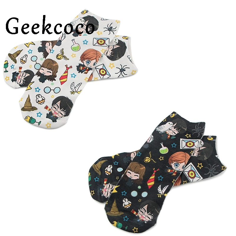 J1081 Cartoon Famous Magic Movie Men Wemen Unisex Casual Non Slip Breathable Comfortable Short Sock