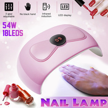 54W Nail Dryer UV Lamp For Nails LED Nail Lamp For Manicure 18 LED USB Lamp Dryer Curing Gel Polish Sensing Nail Manicure Tools