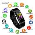 115 Plus Smart Horloge Hartslagmeter Bloeddruk Fitness Tracker Waterdicht Smart Armband voor IOS Android