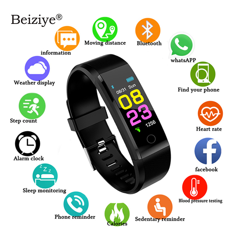 115 Plus Smart Watch Heart Rate Monitor Blood Pressure Fitness Tracker Waterproof Smart Bracelet For IOS Android