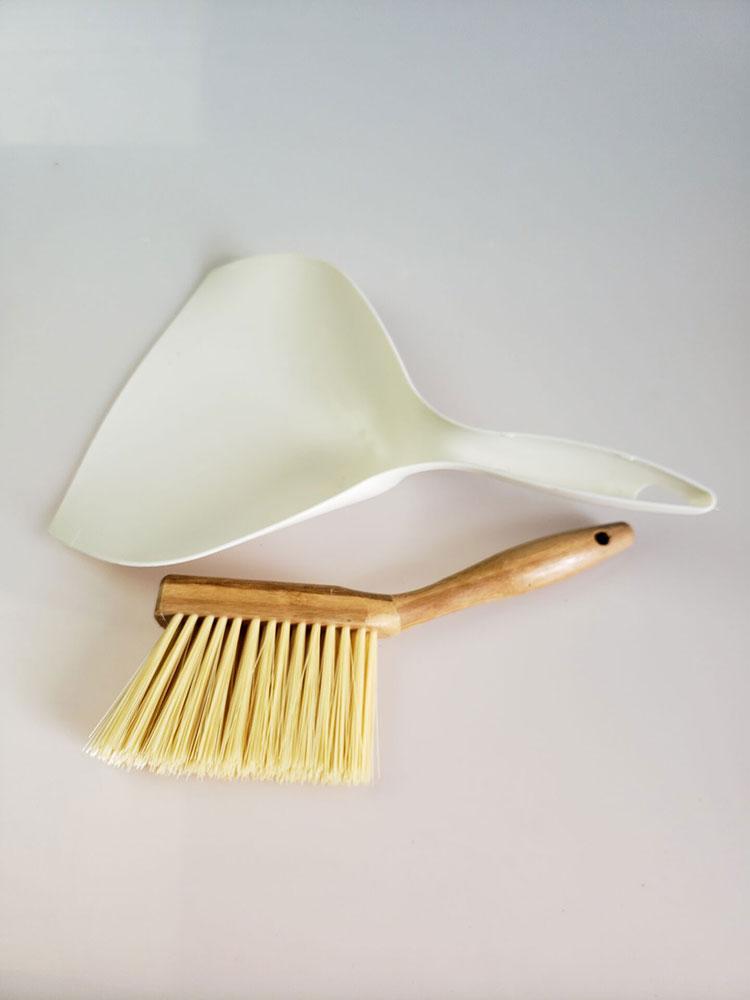 Vanzlife bamboo handle mini brooms shovel set household plastic cleaning brush small broom dust shovel