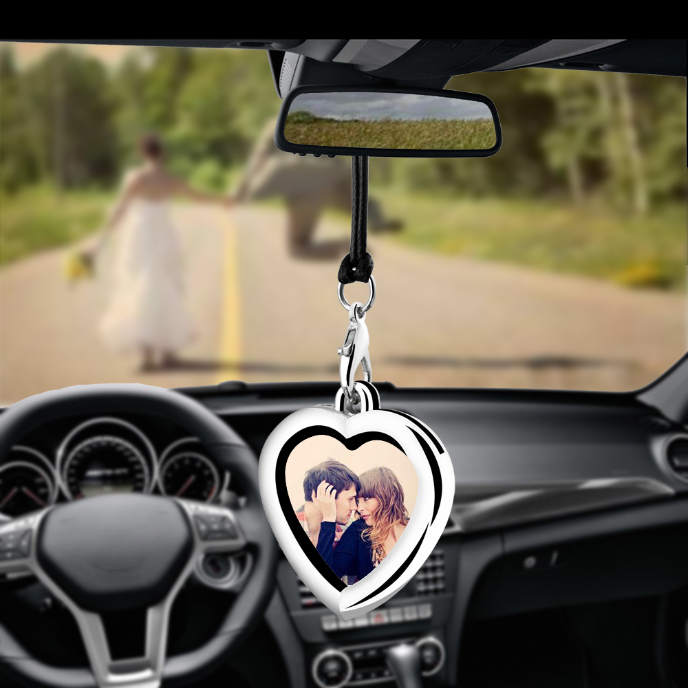 Creative Car Pendant Photo Frame Auto Ornaments Interior Rear View Mirror Decoration Love Family Girl Friends Photos Cars Gifts