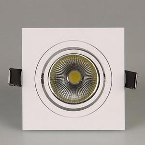 Image 2 - LED Imbottiture Piazza Luce di 7W 9W 12W Led Imbottiture luce COB Dimmerabile Da Incasso A Led Luce del Punto del Soffitto lampada AC85 265V Driver di illuminazione Interna