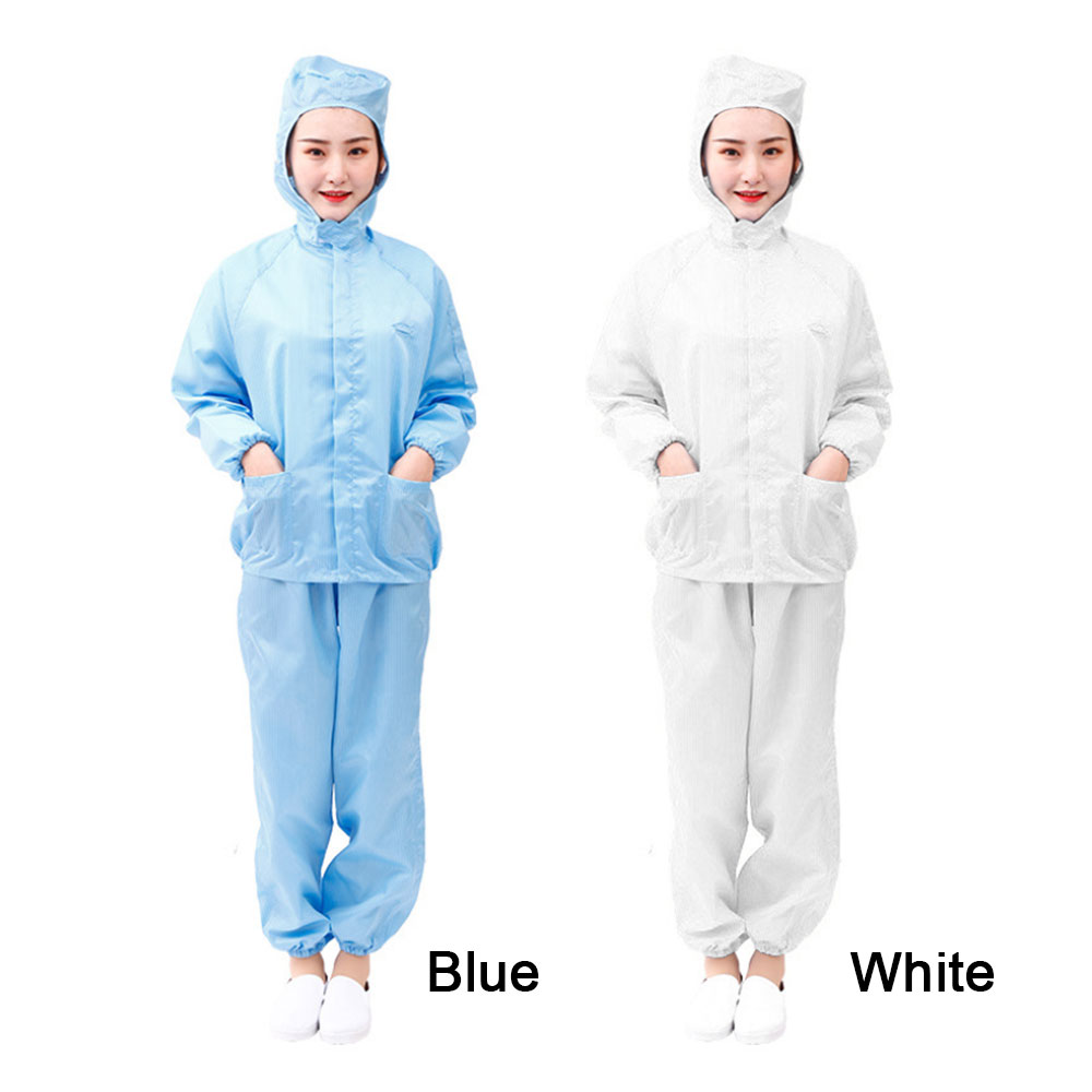Factory Hooded Anti-Static Safety Dust-proof Clothes Workwear Clean Room Protective Suits For Food Shop Spraying Workers