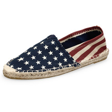 2020 Spring Women/men Loafers Plaid Espadrilles Woman Casual Shoes  Black Flats Cotton Slip on Flat Shoes zapatos mujer 8027N стоимость