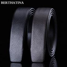 Full Grain Leather Belt No Buckle Belt Black Luxury Genuine