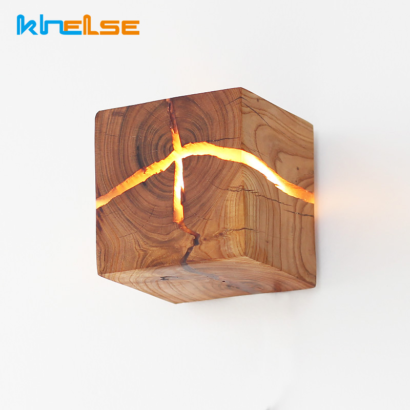 European Style LED Wooden Wall Lamps For Living Room Bedroom Bedside Aisle Home wall Light Fixtures G4 Wall sconce Art Decor
