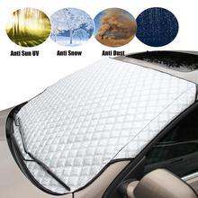 زجاج سيارة ظلة غطاء غبار السيارات المطر الجليد الثلوج حامي مكافحة الحرارة نافذة أمامية سيارة SUV غطاء المظلة Coche
