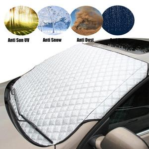 Image 1 - רכב שמשה קדמית שמשיה אבק כיסוי גשם קרח שלג מגן אנטי חום קדמי חלון רכב SUV כיסוי שמשייה Coche
