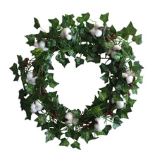 Cotton Berry Wreath Artificial Leaves Floral for Outdoor Indoor Wedding Decor christmas wreath decorations NEW S27