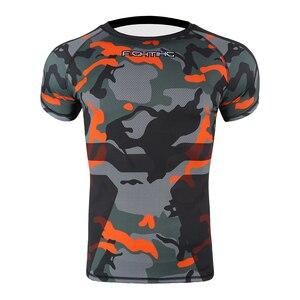 Мужская спортивная футболка для фитнеса с необычным рисунком, одежда тайская футболка с тигром Муай, тренировочная футболка для кикбоксинг...