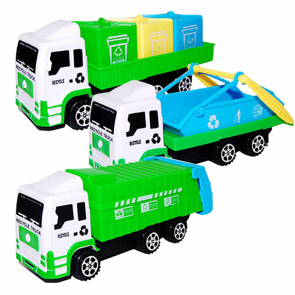 Sanitation Car Toys Truck Imaginative Play Toy For Improving Fine Toys For Kids Garbage Cars Toy Toddler Baby Kids Birthday Gift