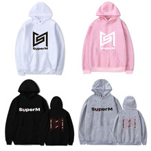Fashion K-Pop Superm Baekhyun Kai Taeyong Hoodies Kpop Superm Taemin Mark Lucas Tien Ondersteunende Sweatshirts Plus Size Truien(China)