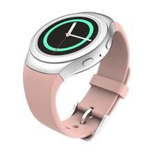 Engrenagem s2 banda silicone macio esportes pulseira de substituição pulseira de relógio para samsung gear s2 SM-R720 SM-R730 acessórios pulseira