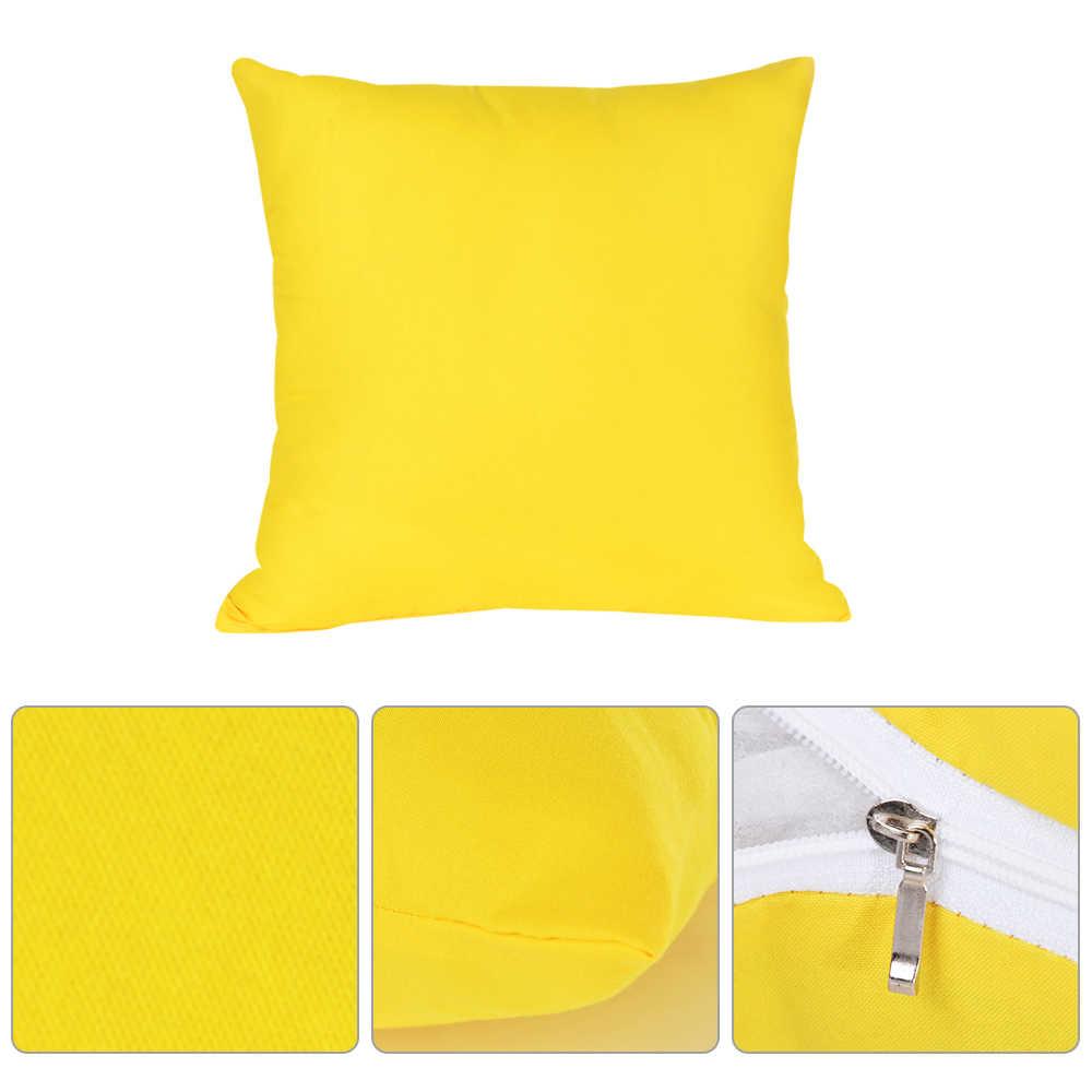 חם מוצק ציפית פשוט רגיל דקורטיבי כרית כיסוי עיצוב הבית במקרה כרית כיסא המכונית ספת מוצרים חברה מתנות