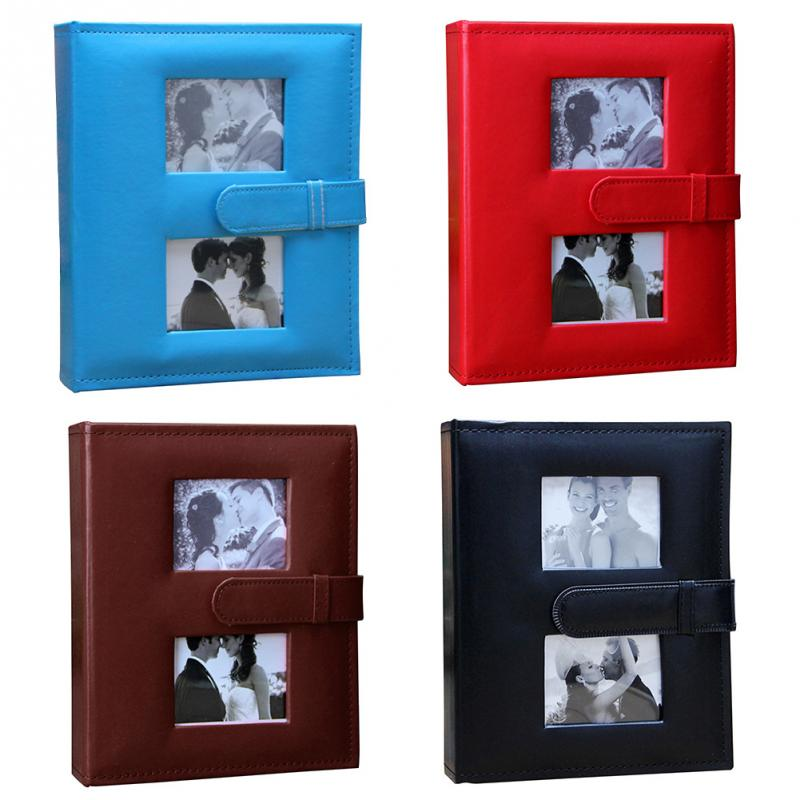 Fashion PU Leather Albums 6-inch 200 Photos Albums Home Birthday Gift Gallery for Lover Wedding Birthday Gift Travel Photo Album image