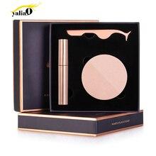 YALIAO Magnetic Eyeliner Kit Eyelashes Tweezers Long Lasting Natural Full Eye Magnet With Eyelash Applicator