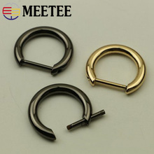Meetee 5pcs 20mm Metal D Ring Buckle Removable Screw Bag Chain Hang DIY Luggage Hardware Decoration Accessories F1-21