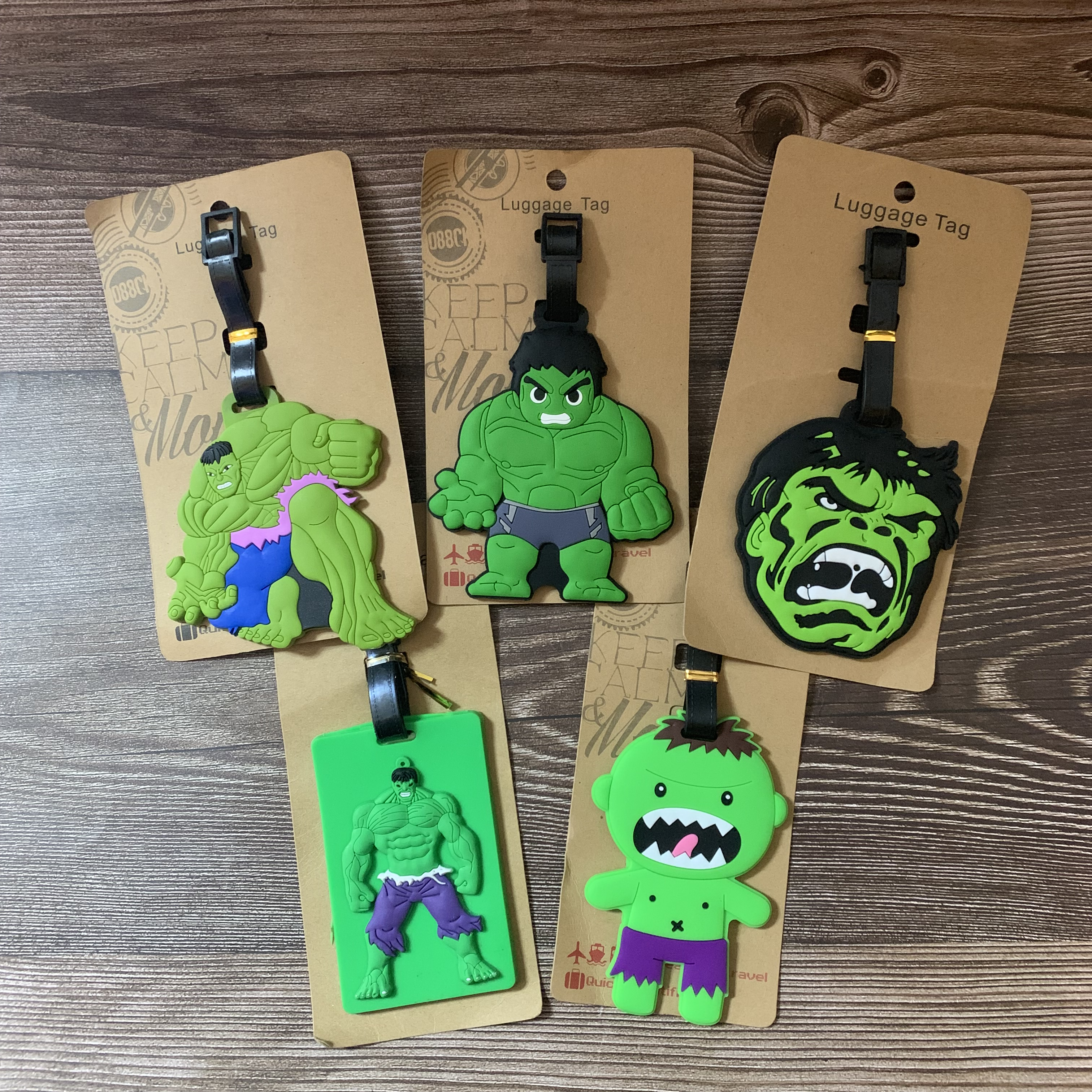 IVYYE Green Hulk Anime Travel Accessories Luggage Tag Suitcase ID Address Portable Tags Holder Baggage Labels New