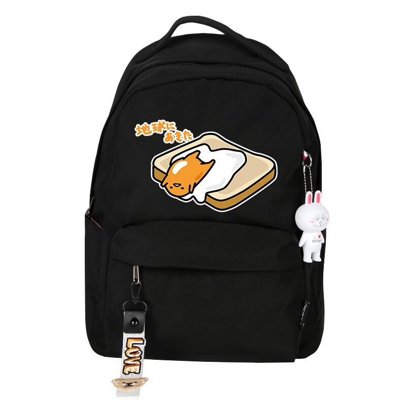 New Gudetama Backpack lots egg Boys School bag Girls Cartoon Shoulders Bag Gift