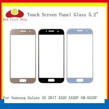 10 ชิ้น/ล็อตหน้าจอสัมผัสสำหรับ Samsung Galaxy A5 2017 A520 A520F แผงสัมผัสด้านหน้ากระจกเลนส์ด้านนอก A5 2017 หน้าจอสัมผัส LCD