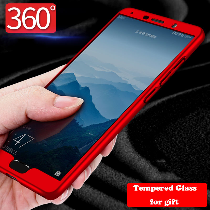 360 <font><b>Full</b></font> <font><b>Cover</b></font> Phone <font><b>Cases</b></font> For <font><b>Huawei</b></font> <font><b>Mate</b></font> 20 <font><b>Lite</b></font> <font><b>Mate</b></font> 8 9 <font><b>10</b></font> Pro P20 Pro Nova 3 3I Y5 2018 Honor 7s Shockproof <font><b>Case</b></font> + Glass image