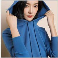 2019 Women's sweater Pullover Women Hooded Sweater Knitted Sweater Women Streetwear Fashion Sweaters Jumper Pull Femme R420