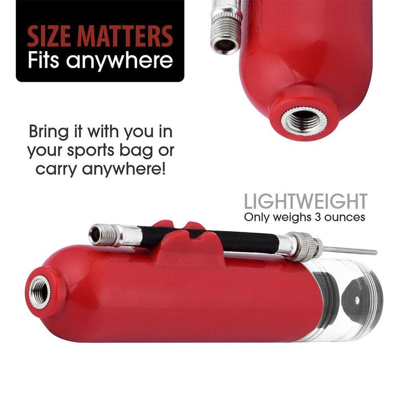 Useful Sports Ball Manual Hand Air Pump Inflate Basketball Football Needle S2