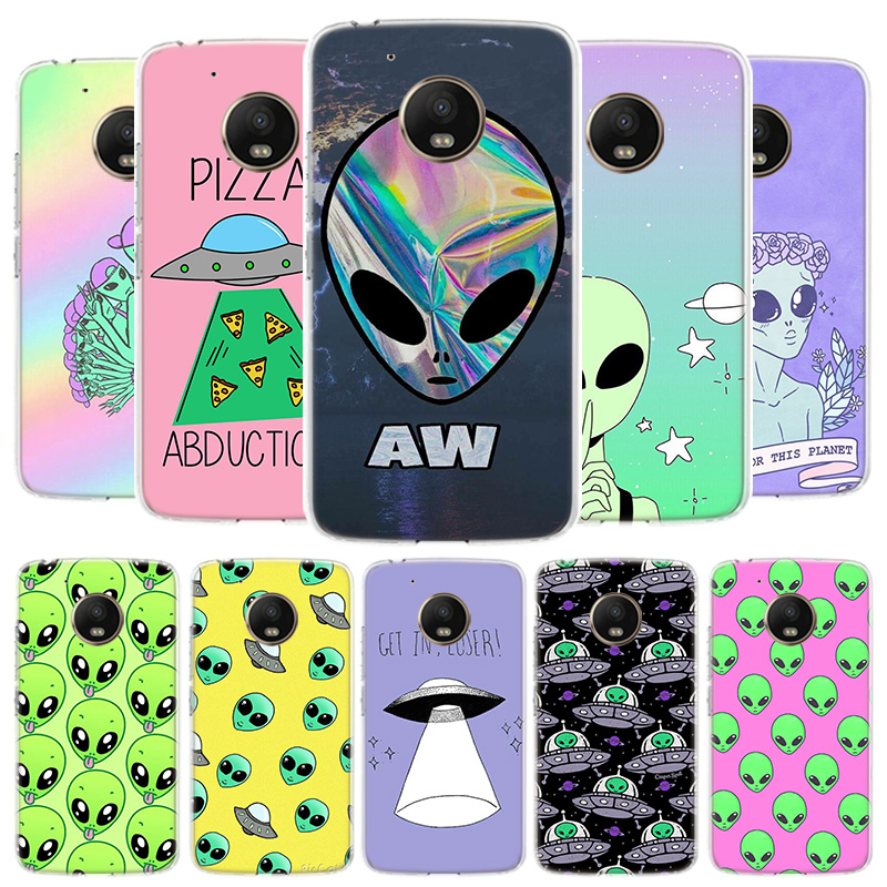 Alien Believe UFO ET Cover Phone Case For Motorola Moto G8 G7 G6 G5S G5 E4 Plus G4 E5 E6 Play Power One Action EU Gift Shell