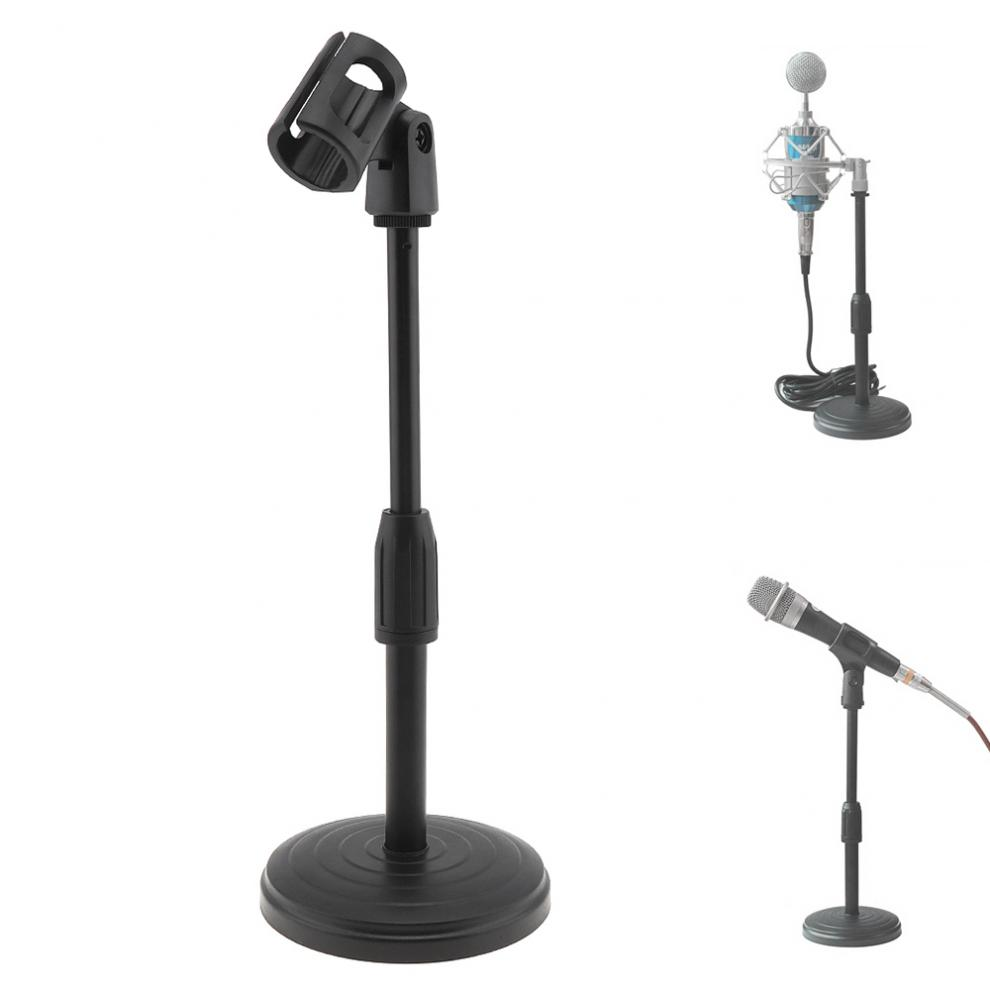 Portable Desktop Lifting Plastic Weighted Disc Microphone Stand For General Meeting / Computer Microphone /Live Broadcast