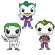 HOT anime movie batman super heroes action figures 10cm DC Arkham Asylum Joker model toys doll collection FOR GIFTS(China)