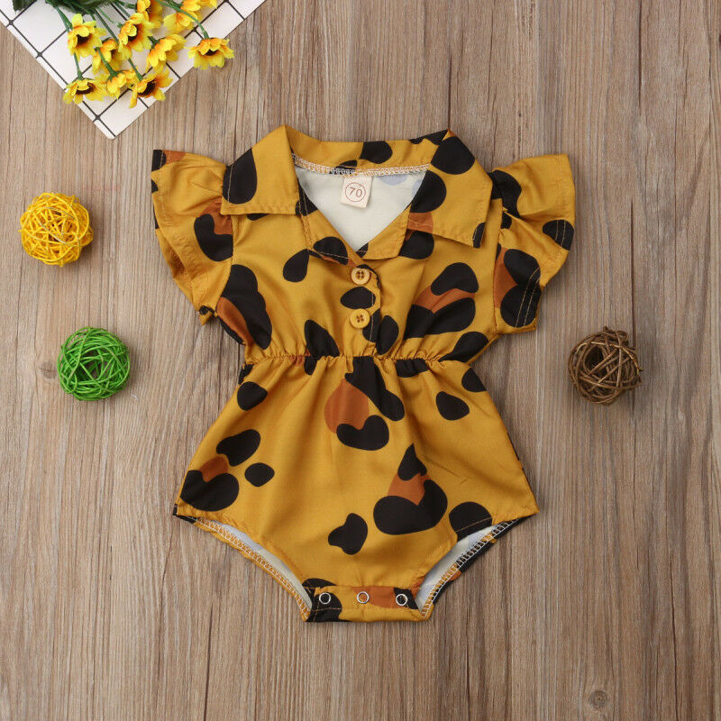 2020 Fashion Print Baby Girl Infant Flower Romper Sleeveless Cotton Ruffles Romper Bodysuit Jumpsuit Outfit Clothes Summer