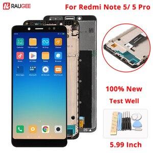 Image 1 - Dla Xiaomi Redmi Note 5 wyświetlacz LCD + ekran dotykowy nowy ekran wymiana zespołu Digitizer dla Xiaomi Redmi Note5 Pro/Note5