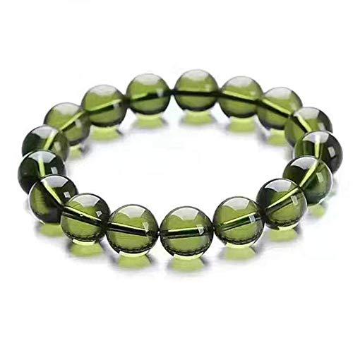 EASTCODE charmant A + 100% naturel Moldavite vert aérolites tchèque cristal pierre brute meulage 8mm perle météorite Bracelet