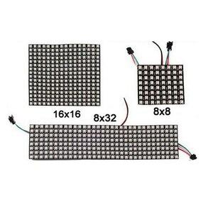 Matrix led Pixel module light 8*8 16*16 8*32 Pixels WS2812B WS2812 Digital Flexible Panel Individually Addressable 5050 RGB 5V(China)