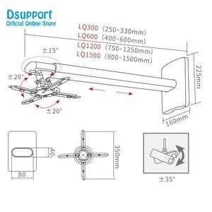 Image 3 - 2020 nouveau support de suspension de projecteur universel rétractable de plein mouvement de bâti de mur chargeant 15 kg
